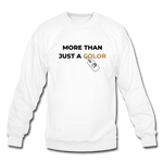 "Load image into Gallery viewer, theblackjunction ""More Than"" Inverse (Sweater) - white"