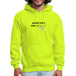 "Load image into Gallery viewer, theblackjunction ""More Than"" Inverse (Hoodie) - safety green"