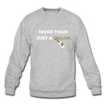 "Load image into Gallery viewer, theblackjuncion ""More Than"" (Sweater) - heather gray"