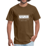 "Load image into Gallery viewer, theblackjunction ""Fine Print"" (Tee) - brown"