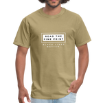 "Load image into Gallery viewer, theblackjunction ""Fine Print"" (Tee) - khaki"