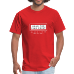"Load image into Gallery viewer, theblackjunction ""Fine Print"" (Tee) - red"