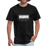 "Load image into Gallery viewer, theblackjunction ""Fine Print"" (Tee) - black"