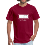 "Load image into Gallery viewer, theblackjunction ""Fine Print"" (Tee) - burgundy"