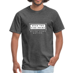 "Load image into Gallery viewer, theblackjunction ""Fine Print"" (Tee) - heather black"