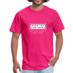 "Load image into Gallery viewer, theblackjunction ""Fine Print"" (Tee) - fuchsia"