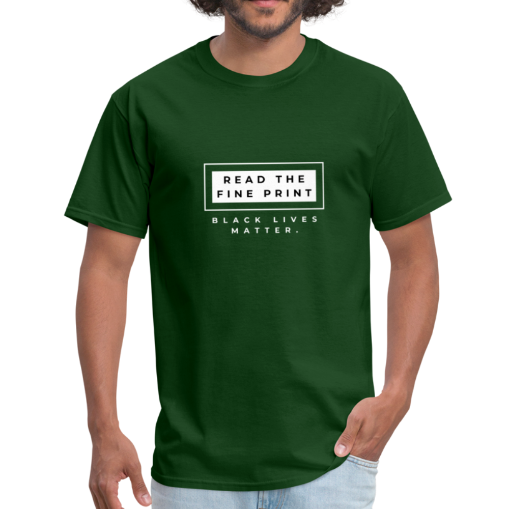 "theblackjunction ""Fine Print"" (Tee) - forest green"