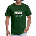 "Load image into Gallery viewer, theblackjunction ""Fine Print"" (Tee) - forest green"