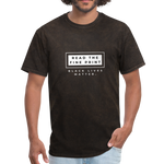 "Load image into Gallery viewer, theblackjunction ""Fine Print"" (Tee) - mineral black"