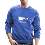 "Load image into Gallery viewer, theblackjunction ""Fine Print"" (Sweater) - royal blue"