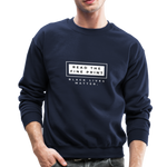 "Load image into Gallery viewer, theblackjunction ""Fine Print"" (Sweater) - navy"