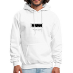"Load image into Gallery viewer, theblackjunction ""Fine Print"" Inverse (Hoodie) - white"