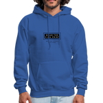 "Load image into Gallery viewer, theblackjunction ""Fine Print"" Inverse (Hoodie) - royal blue"
