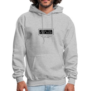 "theblackjunction ""Fine Print"" Inverse (Hoodie) - heather gray"