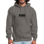 "Load image into Gallery viewer, theblackjunction ""Fine Print"" Inverse (Hoodie) - asphalt gray"