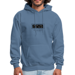 "Load image into Gallery viewer, theblackjunction ""Fine Print"" Inverse (Hoodie) - denim blue"