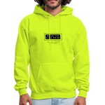 "Load image into Gallery viewer, theblackjunction ""Fine Print"" Inverse (Hoodie) - safety green"