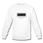 "Load image into Gallery viewer, theblackjunction ""Fine Print"" (Sweater) - white"