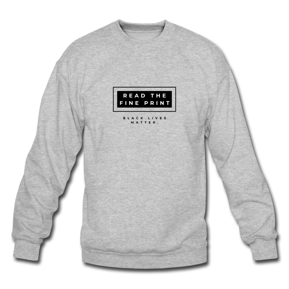 "theblackjunction ""Fine Print"" (Sweater) - heather gray"