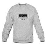 "Load image into Gallery viewer, theblackjunction ""Fine Print"" (Sweater) - heather gray"