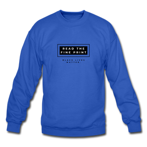 "theblackjunction ""Fine Print"" (Sweater) - royal blue"