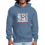 "Load image into Gallery viewer, theblackjunction ""BOB"" (Hoodie) - denim blue"