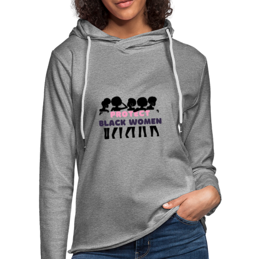 "theblackjunction ""Protect Black Women"" (Terry Hoodie) - heather gray"