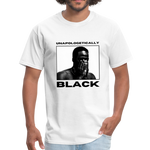 "Load image into Gallery viewer, theblackjunction ""Unapologetic"" (Tee) - white"