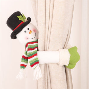 Lovely Santa Clause Snowman Curtain Buckle Christmas Decoration for Home New Year Party Decor Cloth Toys Table Decoration Dolls-LauraLouCrafted