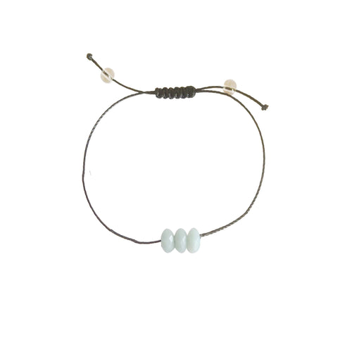 Amazonite + Nylon + Choice of Anklet or Bracelet-LauraLouCrafted