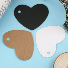 Load image into Gallery viewer, 20PC DIY Heart Shape Side Hole Paper Gift Tags-LauraLouCrafted