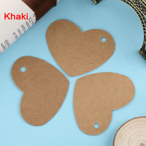 20PC DIY Heart Shape Side Hole Paper Gift Tags-LauraLouCrafted