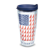 Load image into Gallery viewer, Dog Flag 16 oz. Coffee Mug with navy lid-LauraLouCrafted