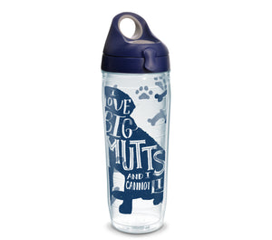 'I Love Big Mutts and I Cannot Lie', 16 oz. Tumbler with navy lid-LauraLouCrafted