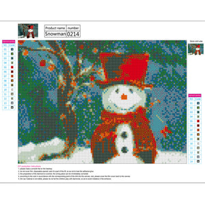 Snowman Diamond Painting-LauraLouCrafted