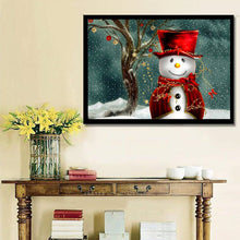Load image into Gallery viewer, Snowman Diamond Painting-LauraLouCrafted