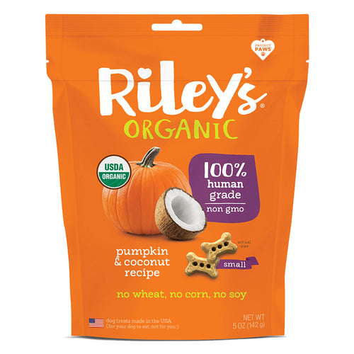 Riley's Pumpkin and Coconut Organic Dog Treats-LauraLouCrafted