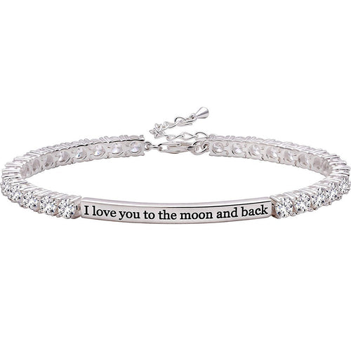 I LOVE YOU TO THE MOON AND BACK Bracelet-LauraLouCrafted