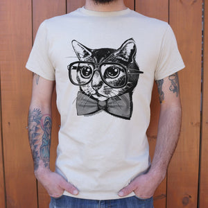 Nerd Cat T-Shirt (Mens)-LauraLouCrafted