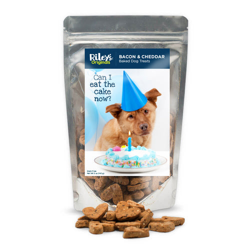 "Riley's Originals ""Birthday"" Grain-Free Baked Bacon & Cheddar Dog Treats 5oz-LauraLouCrafted"
