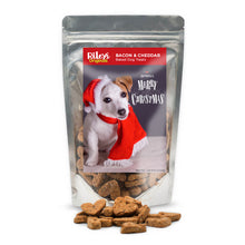 "Load image into Gallery viewer, Riley's Originals ""Christmas"" Grain-Free Baked Bacon & Cheddar Dog Treats 5oz-LauraLouCrafted"