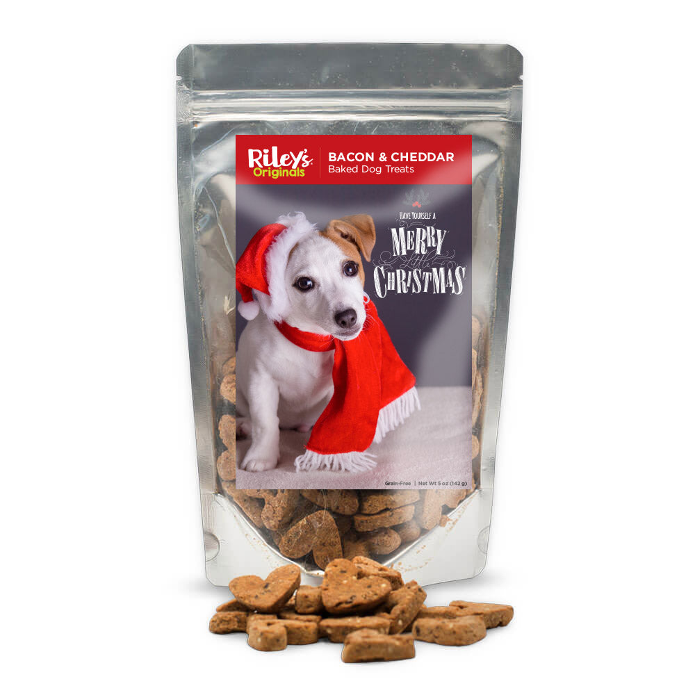 "Riley's Originals ""Christmas"" Grain-Free Baked Bacon & Cheddar Dog Treats 5oz-LauraLouCrafted"