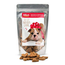 "Load image into Gallery viewer, Riley's Originals ""I Love You"" Grain-Free Baked Bacon & Cheddar Dog Treats 5oz-LauraLouCrafted"