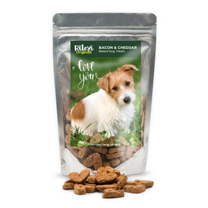 "Riley's Originals ""I Love You"" Grain-Free Baked Bacon & Cheddar Dog Treats 5oz-LauraLouCrafted"