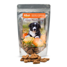 "Load image into Gallery viewer, Riley's Originals ""Thanksgiving"" Grain-Free Baked Bacon & Cheddar Dog Treats 5oz-LauraLouCrafted"