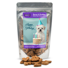 Load image into Gallery viewer, PawsGive Birthday Crunchy Cookies GF Bacon & Cheese 6 oz-LauraLouCrafted