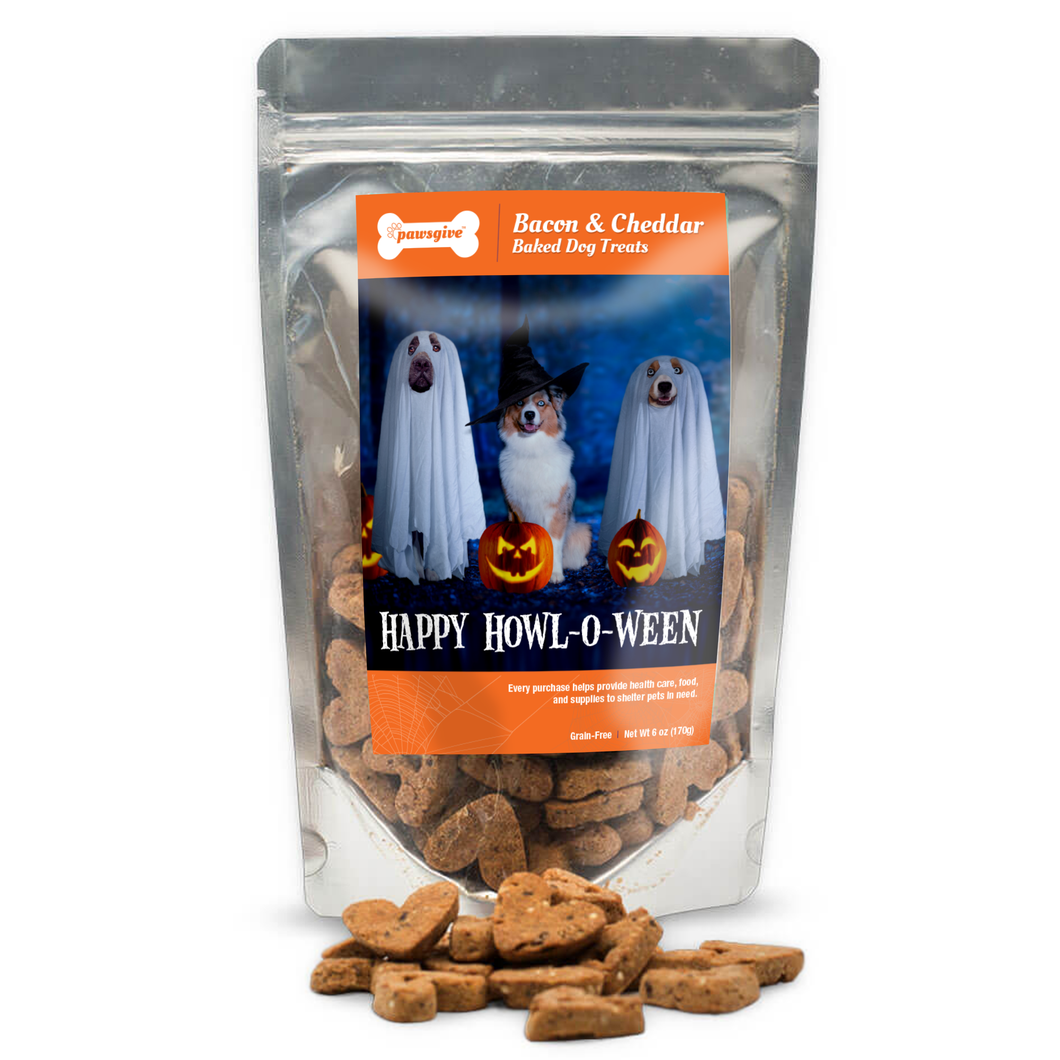 PawsGive Halloween Crunchy Cookies GF Bacon & Cheese 6 oz-LauraLouCrafted