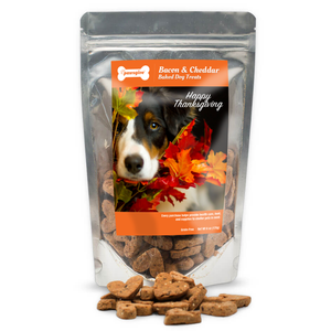 PawsGive Thanksgiving Crunchy Cookies GF Bacon & Cheese 6 oz-LauraLouCrafted