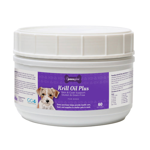 PawsGive Krill Oil Plus Omega 3-6-9 Skin and Coat Chews for Dogs-LauraLouCrafted