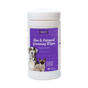 PawsGive Aloe and Oatmeal Grooming Wipes for Dogs and Cats-LauraLouCrafted
